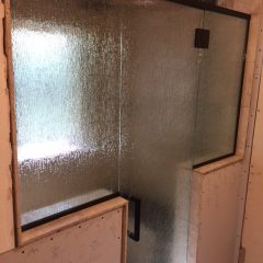 Glazed Shower Door
