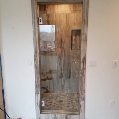 Wood Frame Shower Door